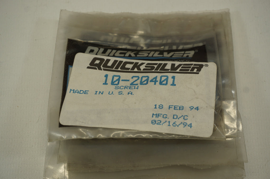 OEM Mercury Mercruiser Quicksilver - 10-20401 Screw