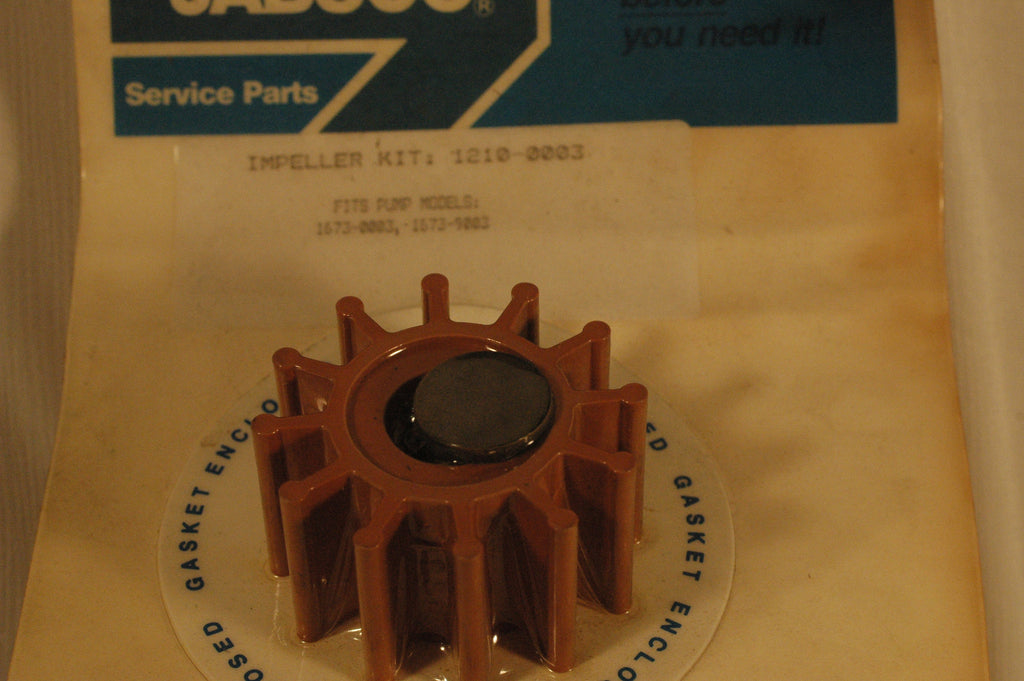 Jabsco 1210-0003 Impeller kit for 1673-0003, 1673-9003, 1673-1003 pumps Impellers part from MarineSurplus.com