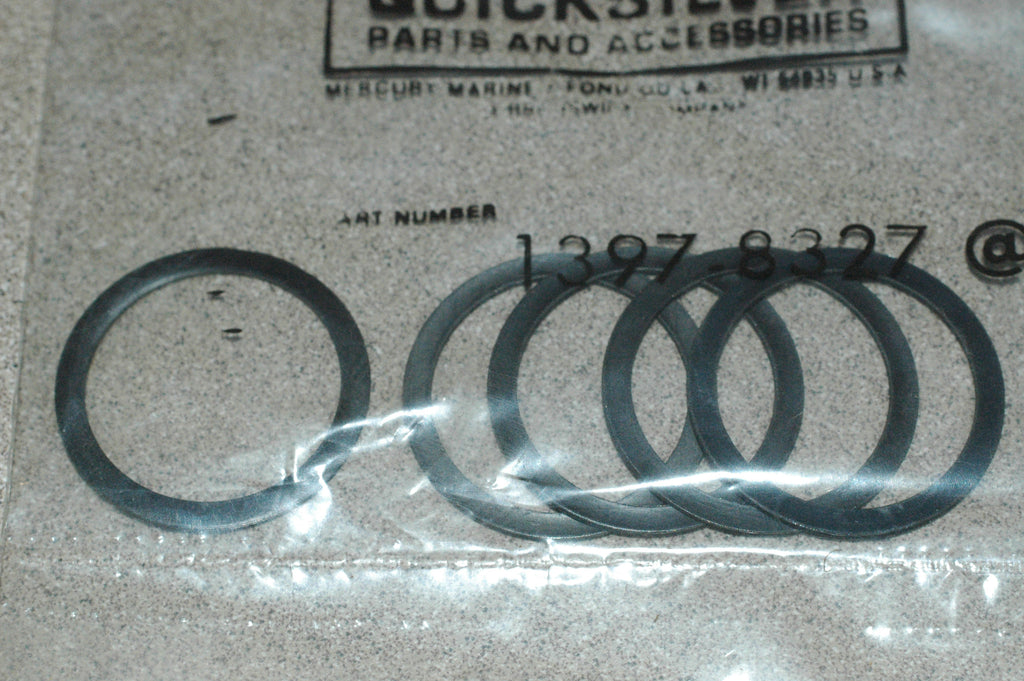 Mercury Marine Quicksilver 1397-8327 BAG OF 5 Gaskets/Seals part from MarineSurplus.com