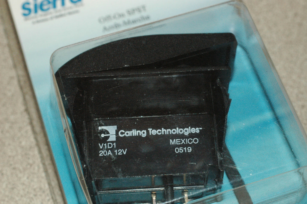 Sierra RK 19400S Carling V1D1 sealed rocker switch off/on SPST Electrical & Lighting part from MarineSurplus.com