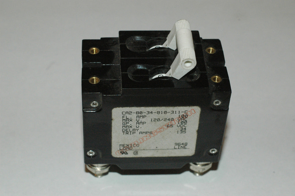 Carling switch 120v 240v 100 amp Breaker CA2-B0-34-810-311-C two pole magnetic Electrical & Lighting MarineSurplus.com