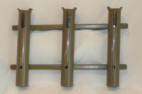 Rod Rack with tool and knife slots Three Pole rod holder Green rod holders ..............B32