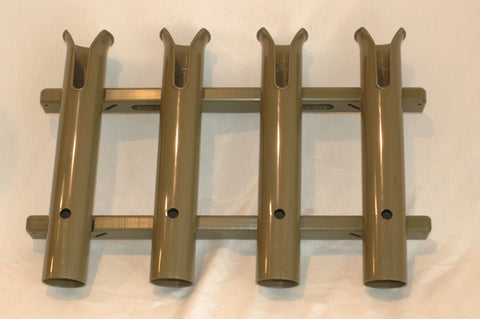 Rod Rack with tool and knife slots Four Pole rod holder Green rod holders ..............B32
