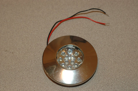 00651-HR 3 inch round halogen flush mount light chrome finish marinesurplus.com