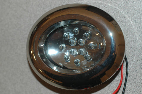 00652-N-LED Oval flush mount light chrome finish 2 3/4 x 3 1/4 Electrical & Lighting part from MarineSurplus.com