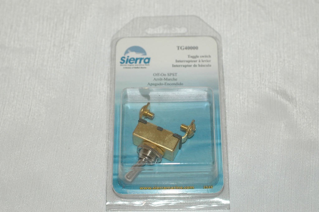 Sierra TG 40000 off-on SPST heavy duty brass toggle switch BS