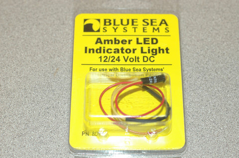 Blue Sea Systems 8033 BAG OF 10 Amber LED indicator light 12/24 volt DC Electrical & Lighting part from MarineSurplus.com