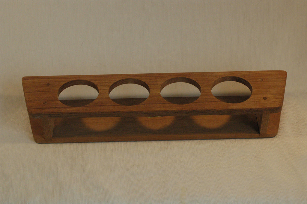 Teak 4 cup holder glass rack .........BX