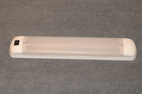 RV or Boat 758-W Cabin Light surface mount built in on/off switch 12 volt fluorescent single F8T5 tube B40