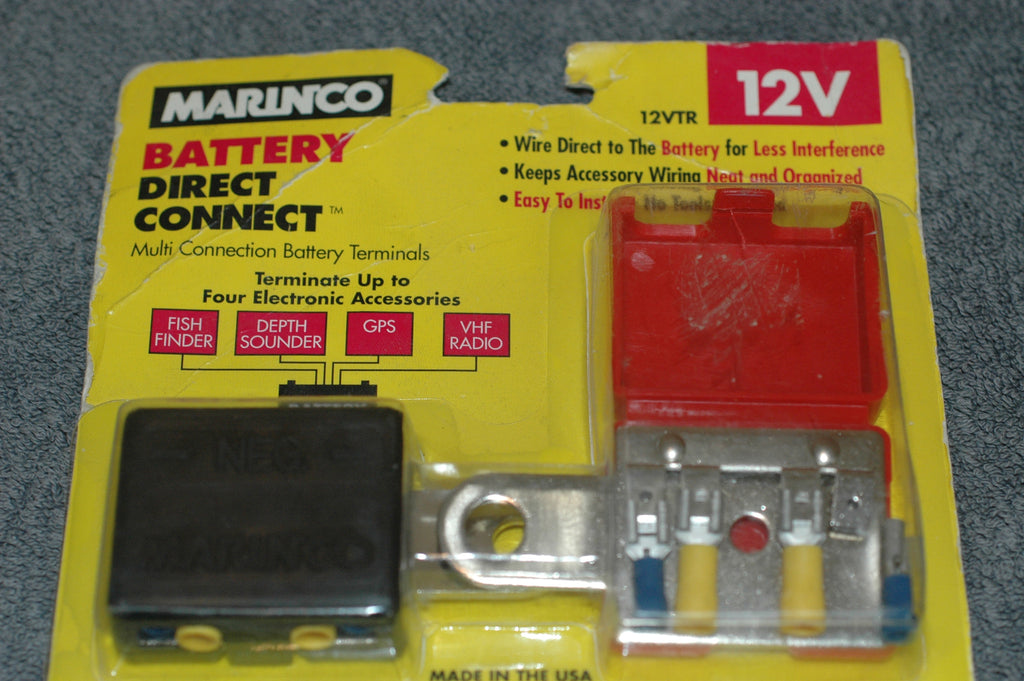 Marinco 12VTR battery direct connect multiple accessories Electrical Systems part from MarineSurplus.com