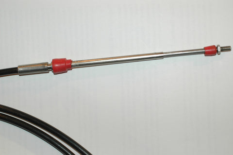 Teleflex Marine Morse type 300 33c stainless steel 13ft throttle shift control cable 10-32 threaded ends MarineSurplus.com
