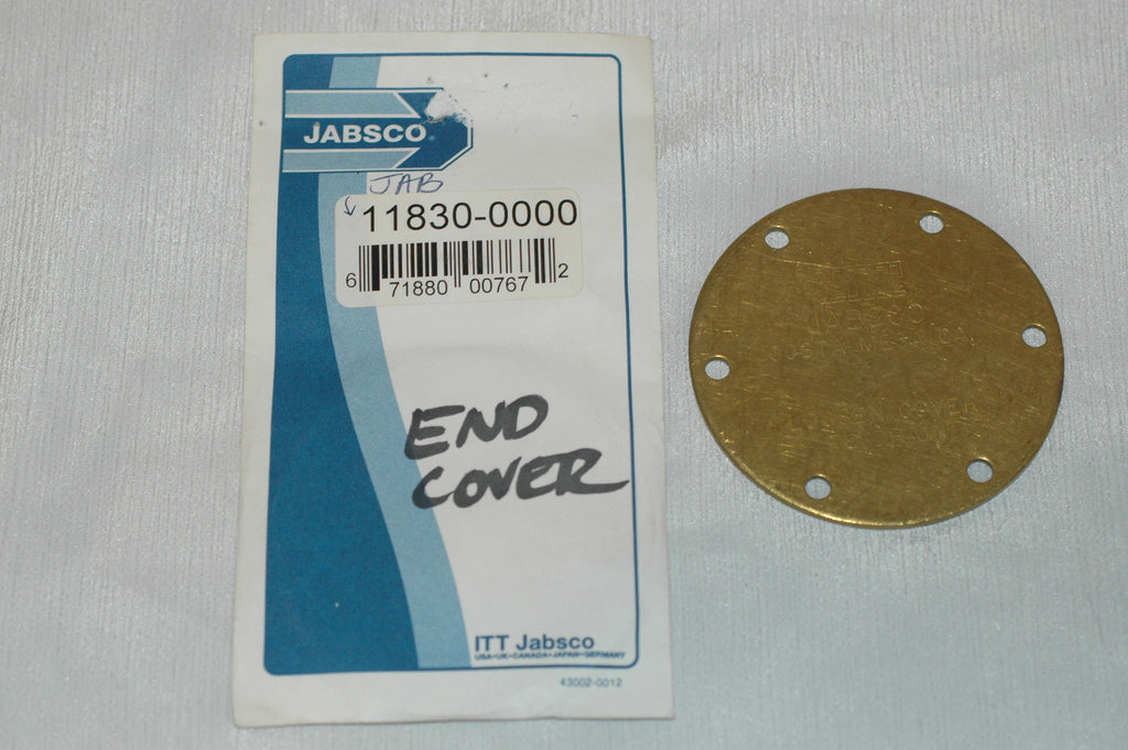 Jabsco 11830-0000 End cap cover Plumbing & Ventilation part from MarineSurplus.com