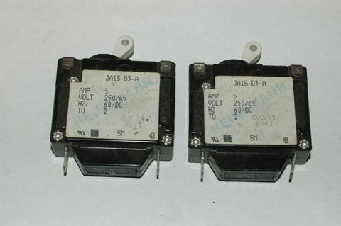 Heinemann JA1S-D3-A Single pole circuit breakers 5 amp Quantity Two (2) Electrical Systems part from MarineSurplus.com