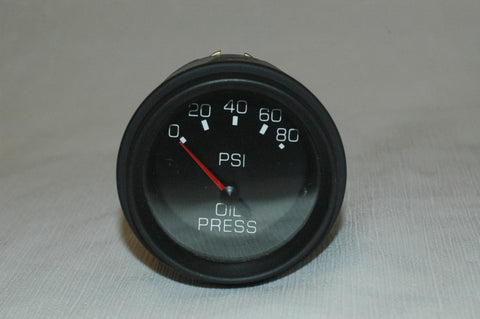 "Oil Pressure gauge 0-80 PSI fits 2"" hole Instruments, Gauges part from MarineSurplus.com"