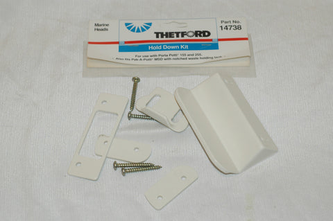 Thetford 14738 Hold down kit for Porta Potti 155 and 255 also pak-a-potti MSD Odds and Ends part from MarineSurplus.com