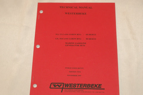 Westerbeke 037375 technical manual for 8.5, 12.5, 15 KW boat gas generators Books and Manuals part from MarineSurplus.com