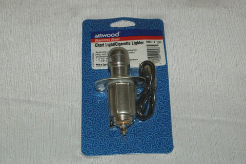 Attwood 14261-3 stainless steel chart light cigarette lighter kit Accessories part from MarineSurplus.com