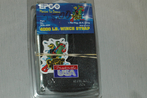 Epco WSL-25N 4,000 LB 25' Winch Strap with snap hook