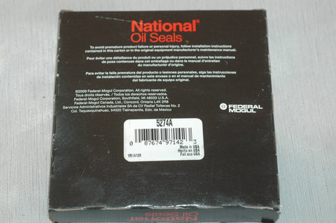 National Oil Seal 5274A includes gasket
