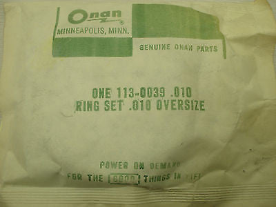 NEW Onan generator piston ring set 113-0039 oversize .010 BX7 Other part from MarineSurplus.com