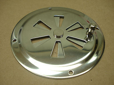 "Gem Products 774 Stainless steel 4"" round butterfly vent marinesurplus.com"