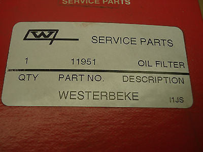 Westerbeke oil filter 11951 marinesurplus.com