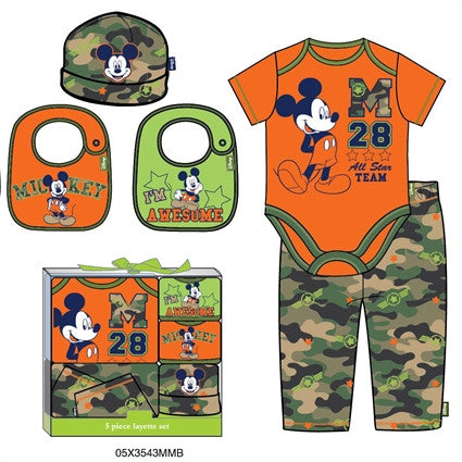 Disney Boys Mickey Mouse 5pc Gift Set