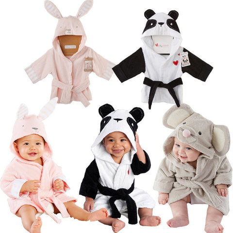 Childrens Hooded Bathrobe Panda/Mouse/Rabbit