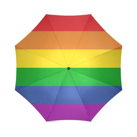 LGBT Pride Rainbow Color Foldable Umbrella
