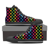 Vibrant Rainbow Hearts Canvas Shoes - Express Shipping