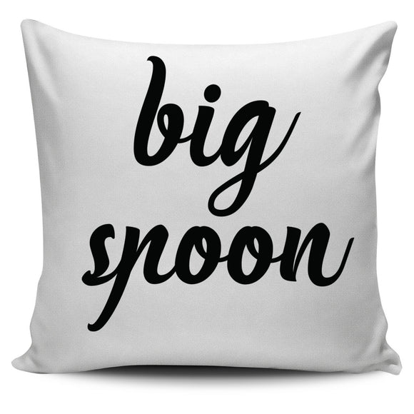 Big Spoon Small Spoon Couple Pillow Cases