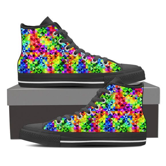 Vibrant Rainbow Canvas Shoes