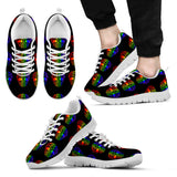 Rainbow Skull Sneakers, High top Shoes and Casual Shoes