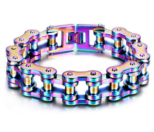 Rainbow Color Biker Bracelet