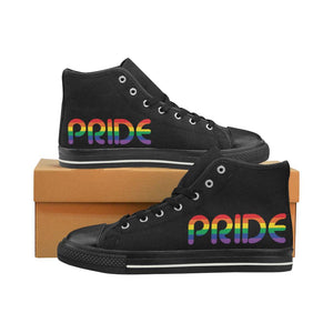Pride high top canvas shoes