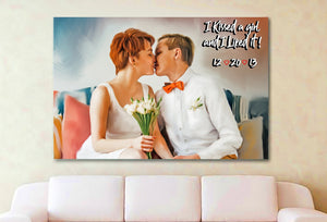 I kissed a girl and I like it Personalized Canvas Painting Wall Art