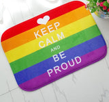 """Keep Calm and Be Proud"" Kitchen Carpets And Door Mats"