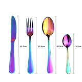 4Pcs Rainbow Cutlery Set