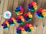 Gay Wedding Party Rainbow Pins LGBT Lapel Flower Badge (70 pieces)