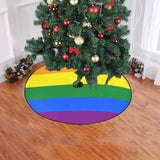 "Rainbow Christmas Tree Skirt 47"" x 47"""
