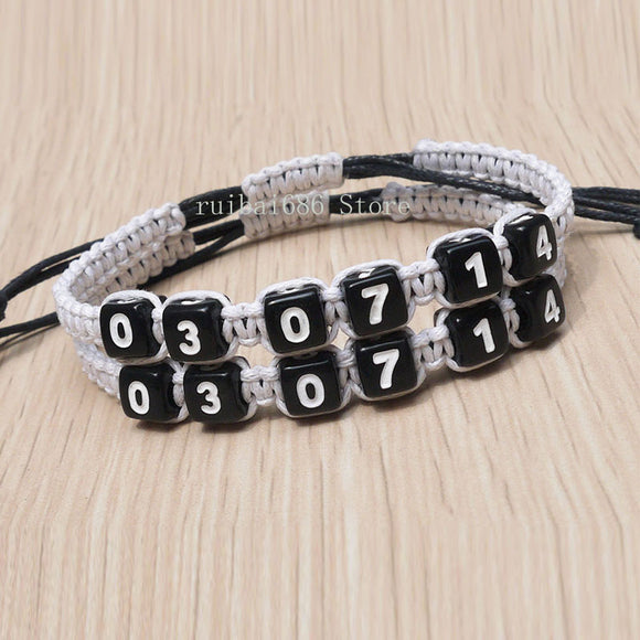 Personalized Couple Bracelet with date