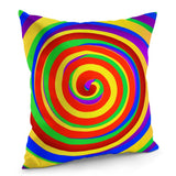 "LGBT Rainbow Pride llusion Custom Zippered Pillow Case 16""x16""(Twin Sides)"