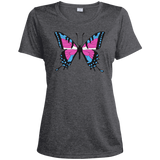 Trans Pride Butterfly dark grey Shirt for women | Unique Design Trans Pride dark grey Tshirt for women