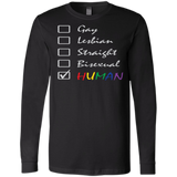 Human Check Box LGBT Pride black full sleeves T Shirt for men Human Equality LGBT Pride black full sleeves Tshirt for men