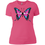 Trans Pride Butterfly pink Shirt for women | Unique Design Trans Pride pink Tshirt for women