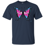 Trans Pride Butterfly blue tshirt for men | Unique Design Trans Pride Tshirt