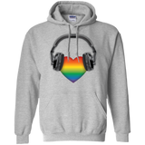 Listen to Your Heart LGBT Pride grey hoodie for men & women