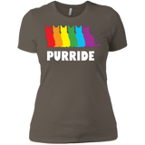 PURRIDE....Pride half sleeves tshirt for women | pet lover tshirt