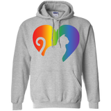 Rainbow Cat Heart LGBT Pride grey unisex hoodie| Affordable LGBT  Hoodie for pet lovers