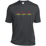 LGBT Pride Pansexual Heartbeat dark grey tshirt for Men
